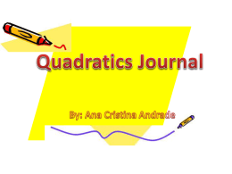 Quadratics Journal