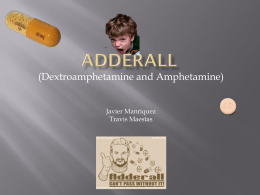 Adderall - Biology - University of New Mexico