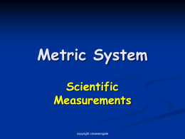 Metric System - Biology Junction