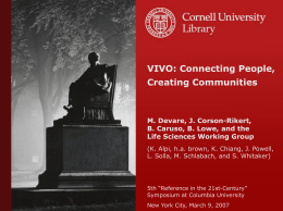 Presentation - Columbia University Libraries