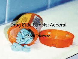 Drug Side Effects: Adderall
