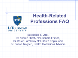 Health-Related Professions PowerPoint
