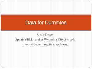 Data for Dummies (.ppt)