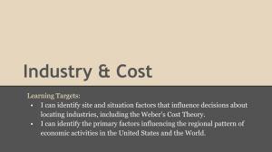 Industry & Cost