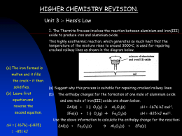 higher chemistry revision. - Deans Community High School