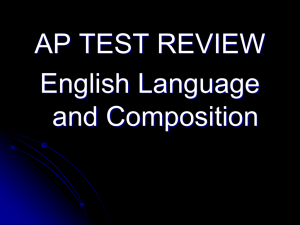 AP Language Exam Overview PowerPoint