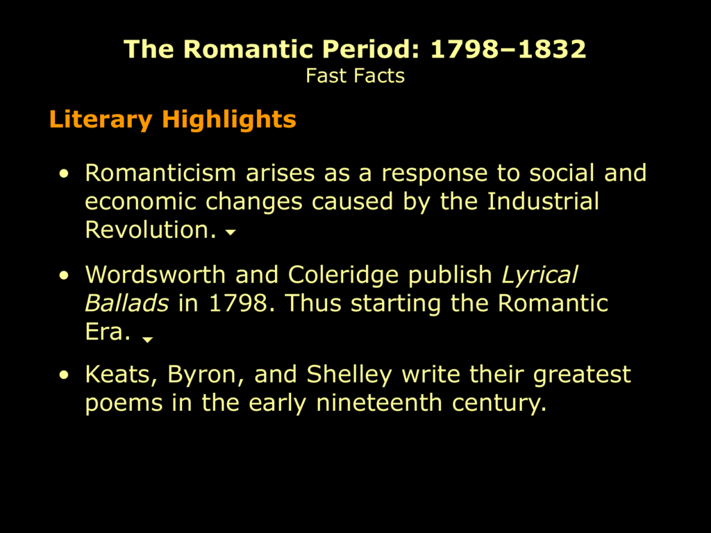about the romantic period essay Although we now know the romantic period as an age of poetry, the prose essay, the drama, and the novel flourished during this epoch summaries writers working in the time period from 1785 to 1830 did not think of themselves as romantics, but were seen to belong to a number of distinct movements or schools.