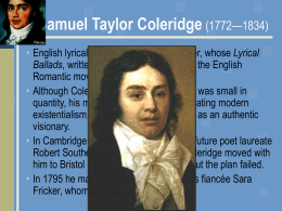 Coleridge Power Point Presentation