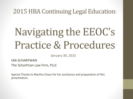 2015 HBA Continuing Legal Education: Navigating the EEOC*s