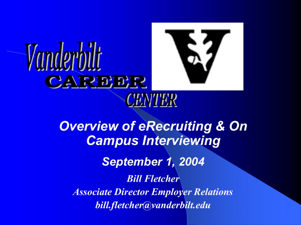 Vanderbilt University Jobs >> Vanderbilt University Career Center