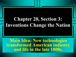 Chapter 20, Section 3 PPT