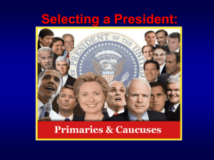 Primaries / Caucuses