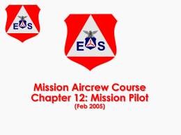 CAP Mission Pilot Course slides - CAP
