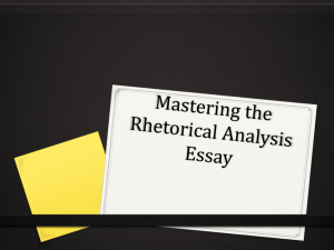 PP-Mastering the Rhetorical Analysis Essay