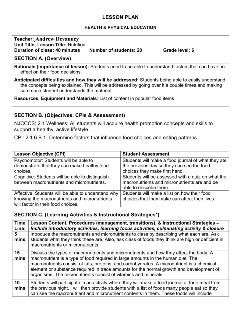 lesson schedule explanation dissertation examples
