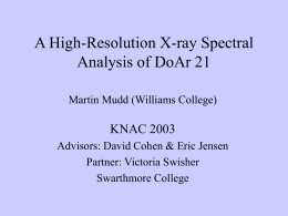 X-ray Spectral Analysis of DoAr 21