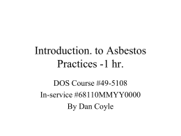 Introduction to Asbestos Practices- 1 hour, 49-6410