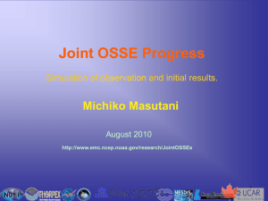 Joint OSSE Progress - Cooperative Institute for Research in