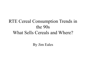 RTE Cereal Consumption Trends in the 90s