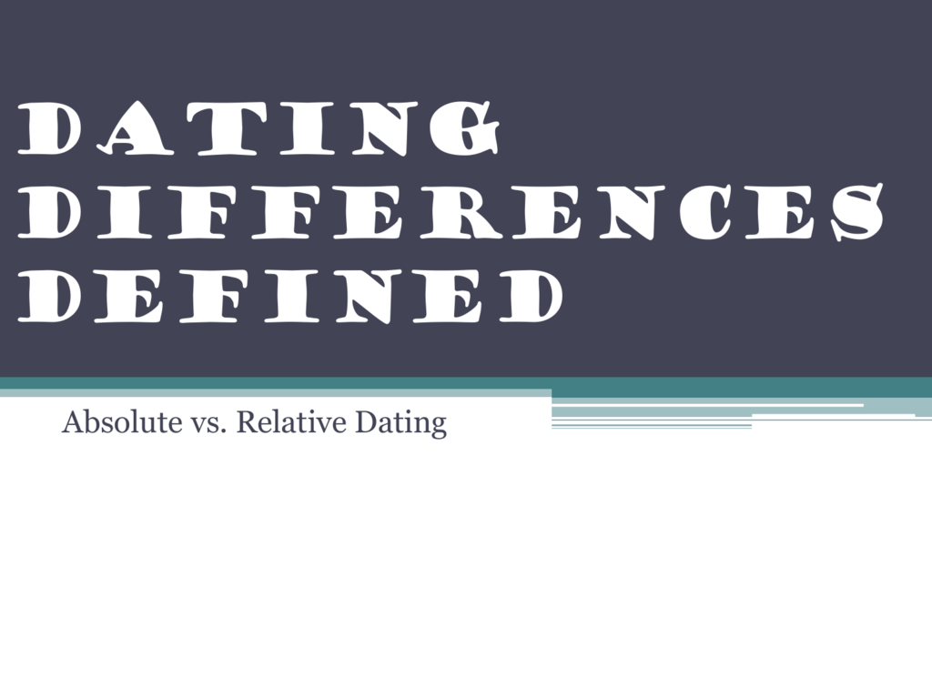 Absolute und relative Dating-Definition
