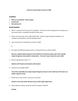 ANSWER KEY Biology 1: Unit 2 (A DNA Mastery Unit) - Worksheet