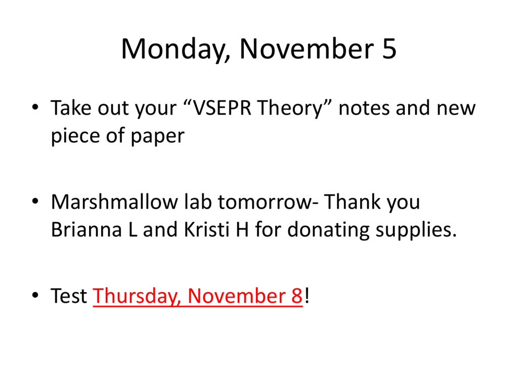 VSEPR Theory - Effingham County Schools