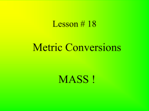 Metric Conversions (Mass)
