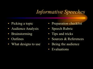 2. Informative Speeches PPT Notes