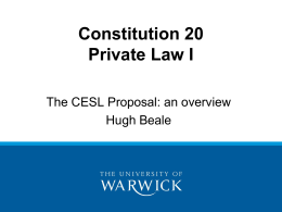 Communication on European Contract Law
