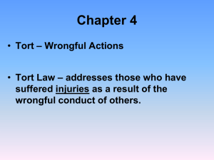 Chapter 4_Torts_PowerPoint