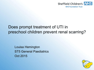 Department Presentation Title - Sheffield Children's NHS