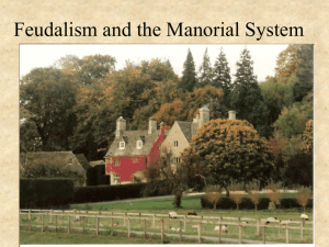 22 Feudalism and the Manorial System