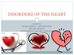 DISORDER OF THE HEART