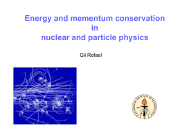 Momentum and energy conservation in particle physics (Blair high