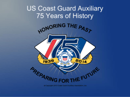 US Coast Guard Auxiliary 75 Years of Service History