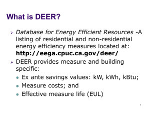 What is DEER?