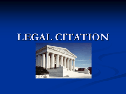 Guide to Legal Citation