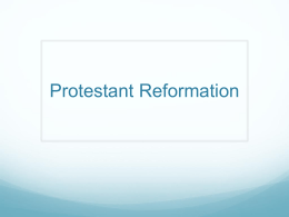 Protestant Reformation - Warren County Schools