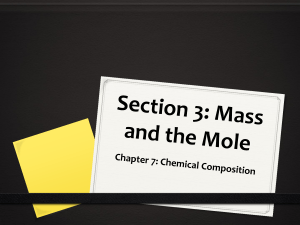 The Mass of a Mole