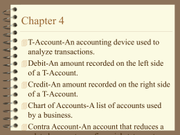 Chapter 4 Terms & Notes
