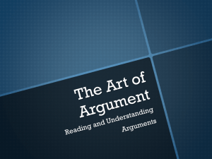 Arguments - Mrs. Scales' Room