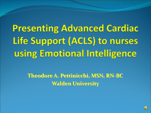Presenting Advanced Cardiac Life Support using Emotional