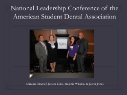 NLC Presentation - Arizona School of Dentistry & Oral Health ASDA