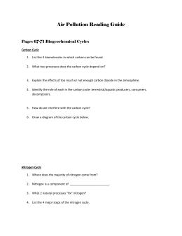 ap environmental science reading guide miller pp 70 rh studylib net AP Environmental Science Lesson Plans Ape AP Environmental Science