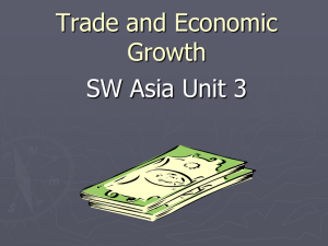 Voluntary Trade and Economic Growth in SW Asia