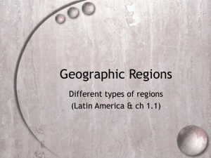 Geography Regions PPT slides