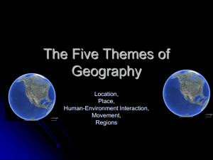 The Five Themes of Geography - Phoenix Union High School District
