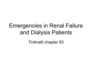 Emergencies in Renal Failure and Dialysis Patients