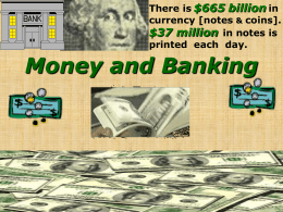 Chapter 13 Money & Banking