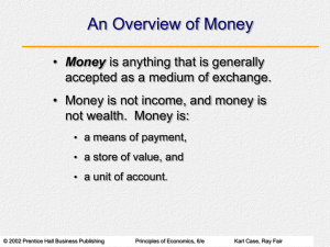 Chapter 21: The Money Supply and the Federal Reserve System